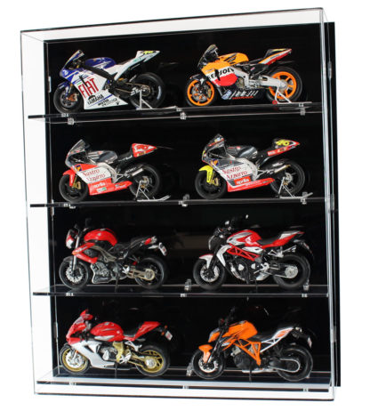 Front View of Acrylic Display Cabinet for 1:12 Scale Motorbikes