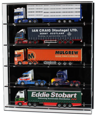 Front View of Acrylic Display Cabinet for 1:50 Scale Model Trucks