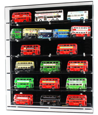 Front View of Acrylic Display Cabinet for 1:76 Scale Model Buses