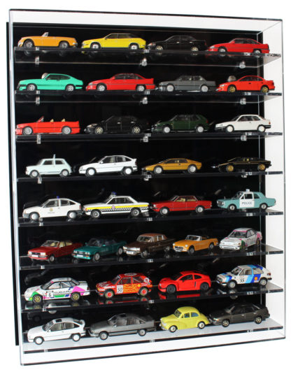 Front View of Acrylic Display Cabinet for 1:43 Scale Model Cars