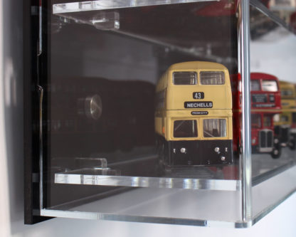Side View of Acrylic Display Cabinet for 1:76 Scale Model Buses