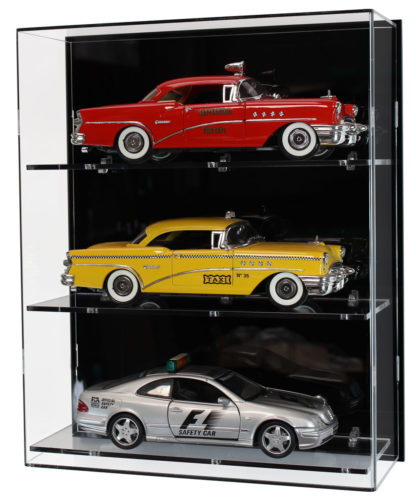 Front View of Acrylic Wall Display Cabinet for 1:18 Scale Model Cars