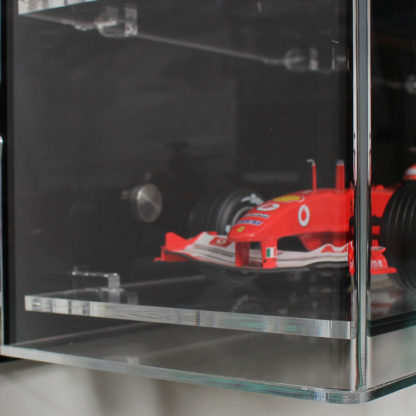 Side View of Acrylic Wall Display Cabinet for 1:18 Scale Model Cars