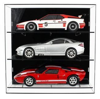 Front View of 1:12 Scale Model Car Wall Display Cabinet