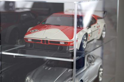 Side View of 1:12 Scale Model Car Wall Display Cabinet
